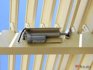 Solara optional motorized or manual opening louvered system