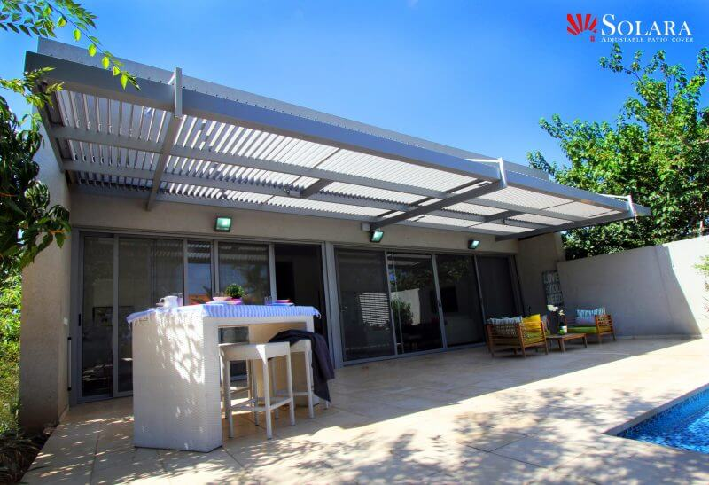 Extruded Heavy Duty White And Gray Aluminum Patio Cover