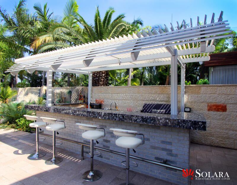 Gazebo Bar Louvered Roof System. Solara Patio CoverOptional ...