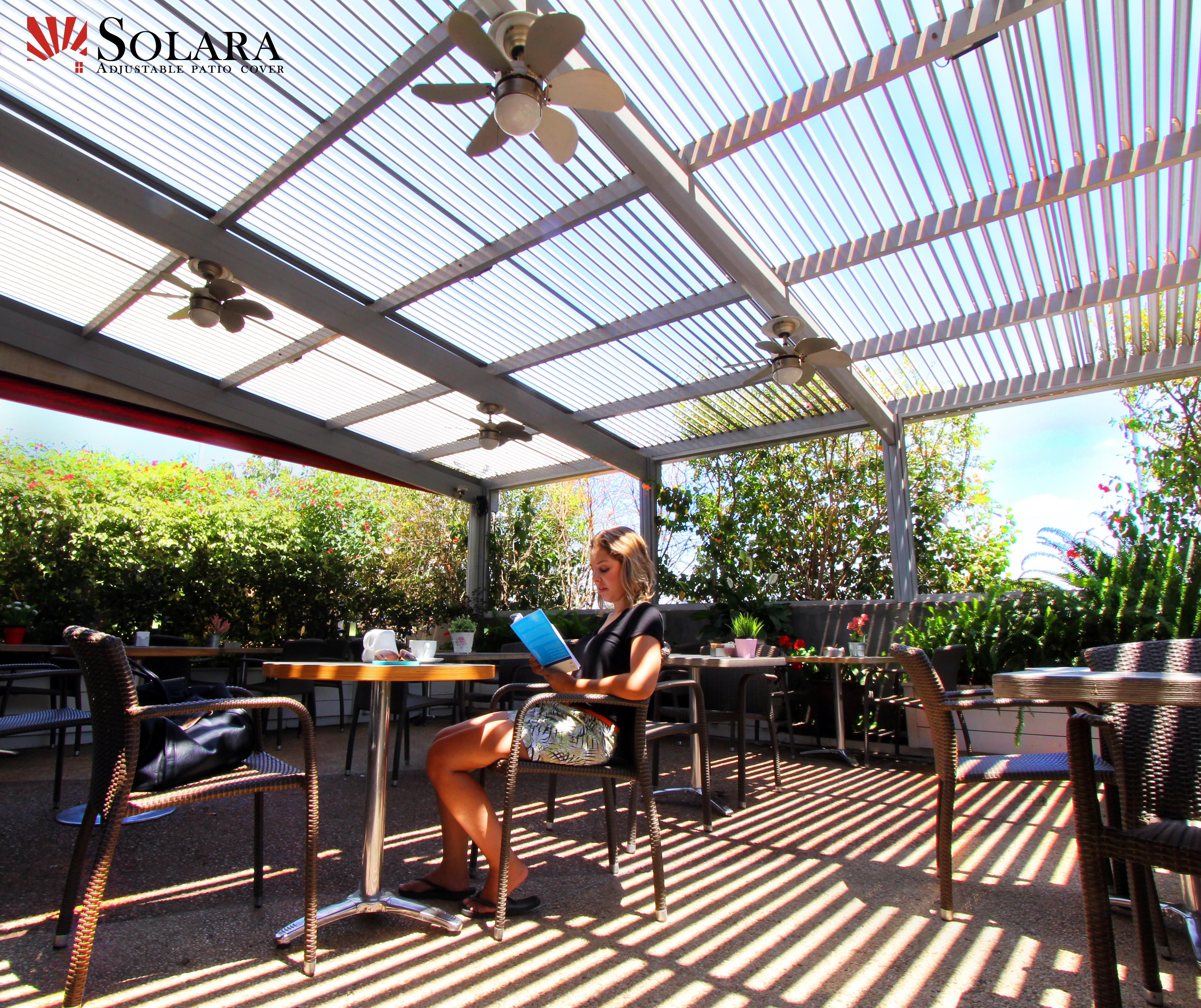 Hospitality Industry Louvered Roof System Solara Patio Coversolara