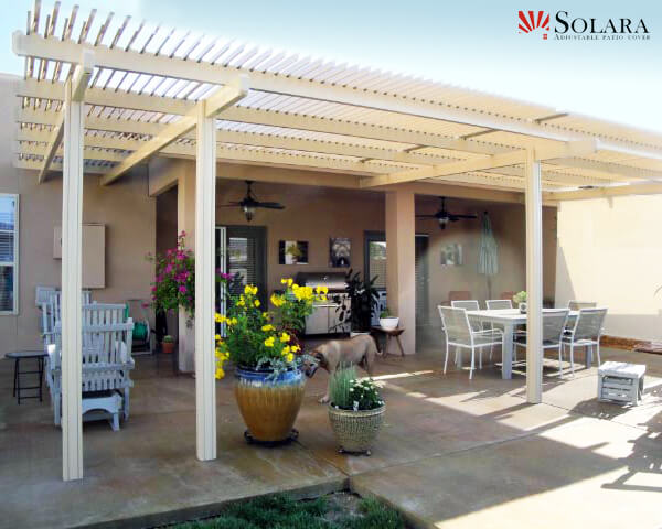 With The Heavy Duty Louvered System You Wont Have To Compromise With A Solid  Patio Cover