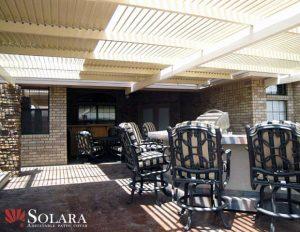 Host a get together under a Solara Adjustable Roof System