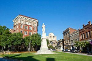 Confederate Statue, downtown Macon
