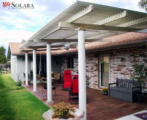 The lovered pergola is custom made and fits your budget.