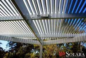 You will have multiple options in the degree in which you can chose to have your louvered roof system open and close.